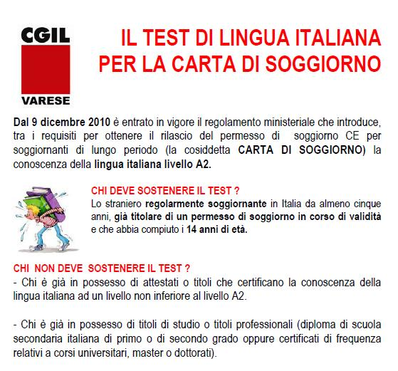 Best Test D Italiano Per Carta Di Soggiorno Gallery - Design Trends ...