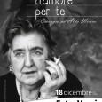 Domenica 18 dicembre omaggio ad Alda Merini.