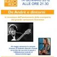 Sabato 14 Gennaio 2012 alle ore 21.00 l'Associazione Il Laboratorio di viale Valganna 16 a Varese organizza l'eventoDe Andrè e dintorni in occasione dell'anniversario di morte del mitico Faber.Un viaggio attraverso la canzone d'autore di...