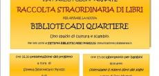Su modello delle biblioteche di condominio già esistenti a Milano, nasce a Gallarate la prima biblioteca di quartiere, uno spazio di cultura gestito, curato e nutrito dai cittadini, volto a sollecitare le energie del quartiere...