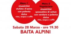 Sabato 28 marzo, ore 19.30, si terrà una cena a favore di Emergency presso la Baita degli Alpini di Legnano in via Colombes, zona Canazza.
