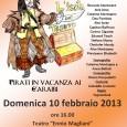 """Domenica 10 febbraio, alle ore 16.00, festeggiate il Carnevale con i Sognambuli e """"L'isola del tesoro: Pirati in vacanza ai Caraibi""""al Teatro Ennio Magliani di Corcagnano (Parma). Ingresso ad offerta."""