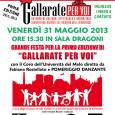 Venerdì 31 maggio, alle ore 15.30, tutti sono invitati presso l'Università del Melo, in via Magenta 3 a Gallarate, per partecipare alla Grande festa per la Prima Edizione del progetto GALLARATE PER VOI.
