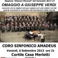 """Venerdì 6 settembre, alle ore 21.00, presso il Cortile Casa Merlotti a Solbiate Arno, nell'ambito della Stagione Concertistica 2012/2013 """"Itinerari Musicali"""" del Varesotto dell'Associazione Ensemble Amadeus, si terrà il concerto in omaggio a Giuseppe Verdi […]"""