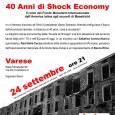 """Martedì 24 settembre , alle ore 21.00, presso Sala Filmstudio'90, si terrà un incontro intitolato """"40 anni di Shock economy. Il ruolo del F.M.I. dall'America Latina"""" con lo scrittore e giornalista esperto in geopolitica latino […]"""