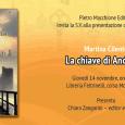 """Giovedì 14 Novembre, ore 18.00, presso la Libreria Feltrinelli, Corso moro, Varese ci sarà la presentazione del romanzo di Martina Cliento: """"La chiave di Anderain"""". Presenta Chiara Zangarini, editor e scrittrice."""