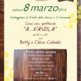 """Sabato 8 marzo, presso la Fattoria Gaggio, per festeggiare la Festa della Donna e il Carnevale, Cena con spettacolo """"A..Favola"""" con Betty e Chicco Colombo. Prezzo 40 euro, per i bambini fino ai 10 anni 20 euro."""
