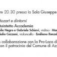 """La terza rassegna musicale Echi dai Secoli presenta """"Mozart e dintorni"""" Dopo l'enorme successo del concerto del Solo Duo dello scorso 18 ottobre, l'Associazione Musicale Estense, in collaborazione con la Pro-Loco di Azzate […]"""