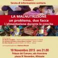 Dopo il successo per gli eventi occorsi ad ottobre, tornano anche questo mese gli eventi di Medici con l'Africa CUAMM Varese, si inizia il 10 novembre con due eventi di informazione sanitaria, a Sesto Calende e Albizzate.