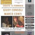 Sabato 13 febbraio alle  ore 19,30-20,30 ed alle  ore 21,30,presso FUTURO ANTERIORE Spazio Tempo - Via Speri Della Chiesa Jemoli 3 - VARESE-si eisbiranno Giusy Consoli e Marco Conti.