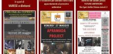 Giovedì 26 maggio 2016 conprimo set alle ore 19.30-20.30 e il secondo set dalle ore 21.30, presso CA' DEI SANTI in Via Molini Trotti, 7 (VA) si esibirà Giusy Consoli Trio     […]