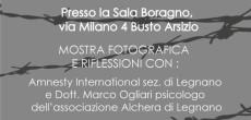 """Venerdi 16 settembre 2016 ore 21:00, presso la sala Boragno, a Busto Arsizio in via Milano 4 (VA), ci sarà la presentazione della mostra fotografica dal titolo """"Urla Nascoste"""". La mostra è stata organizzato da: […]"""