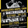 Venerdì 20 ottobre alle ore 21.00 presso il Teatro Apollonio – Openjobmetis, avrà luogo il concerto per celebrare i 25 anni di attività del Greensleeves Gospel Choir, il coro Gospel di Varese. Vecchi e nuovi […]