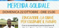 Domenica 22 ottobre, alle ore 15.00, presso l'Oratorio di Castronno (VA), si terrà un evento dal titoloMerenda solidale.L'incontro è organizzato dall'associazioneGood Samaritan Onlusdi Caronno Varesino, presente in Uganda dal 1999 con progetti di sostegno e […]