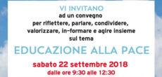 Il convegno Educazione alla pacesi terrà sabato 22 settembre, presso l'Urban Center – Binario 7 a Monza, zona stazione FS, dalle ore 9.30 alle 12.30, aperto al pubblico con entrata libera e dibattito finale. Il […]