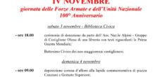 Sabato3 edomenica4 novembre 2018 si terranno a Castiglione Olona lecelebrazioni del 4 novembre, che quest'anno non si svolgeranno nella medesima giornata, ma verranno dislocate in due giorni in occasione del 100° Anniversario della Giornata delle […]