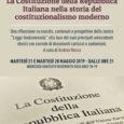 Il 21 e il 28 maggio alle ore 21 al Circolo Arci Gagarin di Busto Arsizio si terranno le conferenze sul costituzionalismo moderno in compagnia del prof. Andrea Rocca. Una riflessione sui contenuti e prospettive […]
