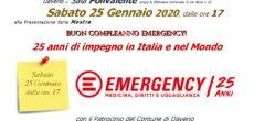 In occasione del 25° compleanno di EMERGENCY i volontari del Gruppo di Varese hanno scelto di celebrare la ricorrenza organizzando una mostra fotografica, che si terrà a Daverio presso la sala polivalente, il 25 gennaio […]
